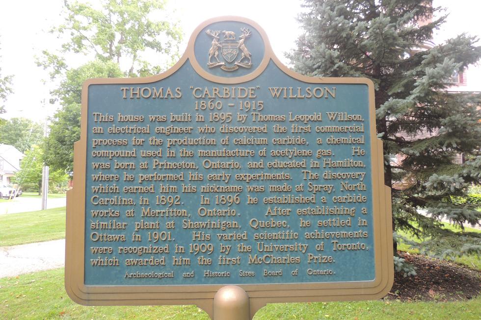 Historic plaque in front of 210 Vansittart Ave, Woodstock, Ontario, N4S 6E9, CANADA