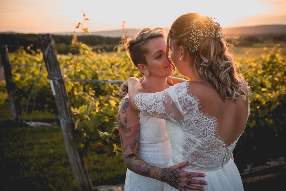 SurInvitationSeulement_JulieDeLeemansPhotographe_VignobleSt-Gabriel_GoldenHour_LGBT_Couple-14