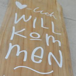 Beschriftung Holz