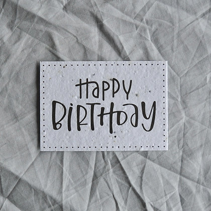"Saat-Karte A7 ""Happy Birthday"" schwarz"