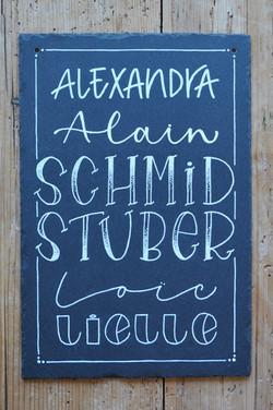 Schiefertafel Schmid/Stuber