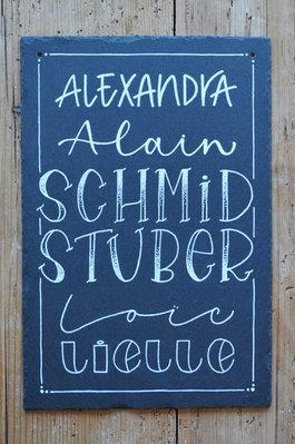 Schiefertafel Schmid&Stuber