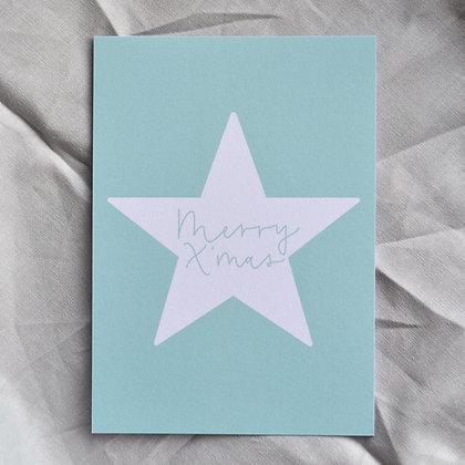"Karte A6 ""Merry X'mas"", mint"