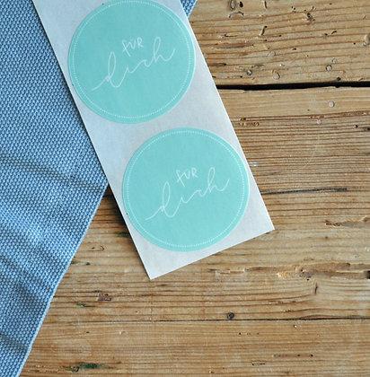 """Sticker mint """"für dich"""" (5 Stk.)"""