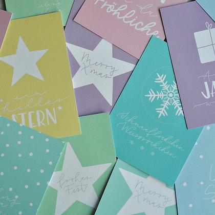 Weihnachts-Karten-Set A6, 6 Stk.