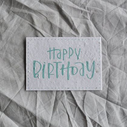 """Saat-Karte A7 """"Happy Birthday"""" blau"""