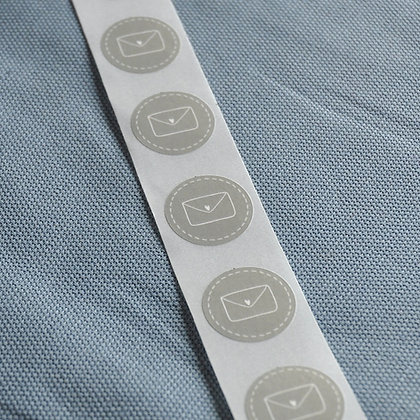 Mini-Sticker Brief, grau (10 Stk.)