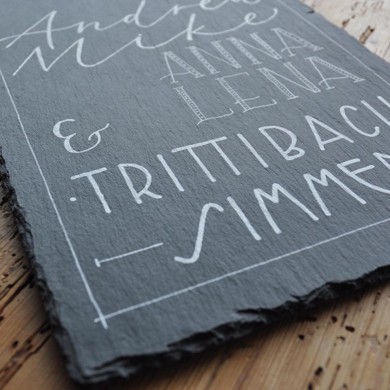 Schiefertafel Trittibach/Simmen