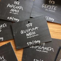 Beschriftung für puro-unverpackt