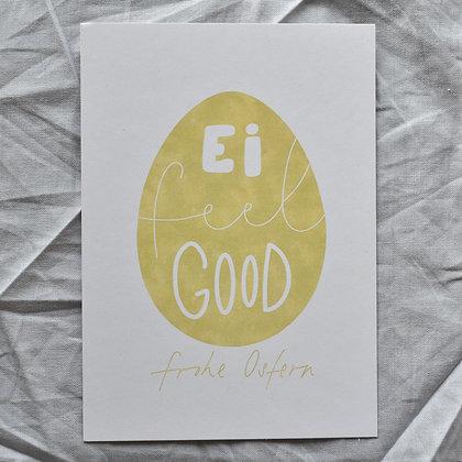 "Karte A6 ""Ei feel good"", gelb"