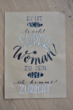 Lettering Superwoman