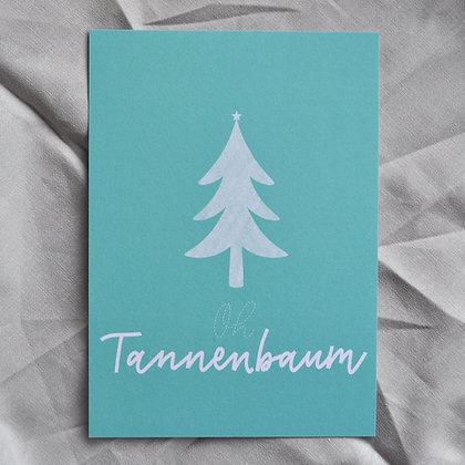"Karte A6 ""Oh Tannenbaum"", türkis"