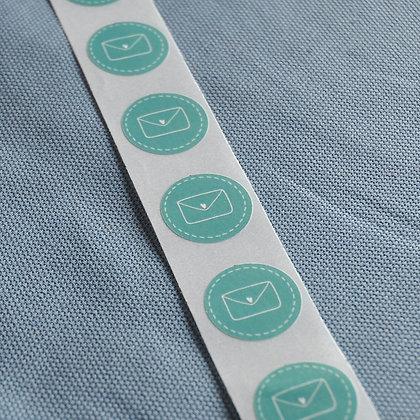 Mini-Sticker Brief, petrol (10 Stk.)