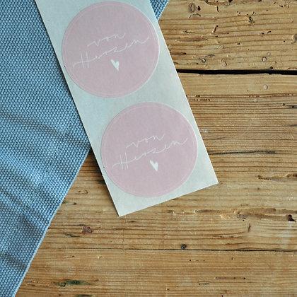 """Sticker rosa """"von Herzen"""" (5 Stk.)"""