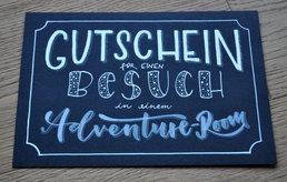 Lettering GutscheinAdventureroom