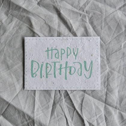 "Saat-Karte A7 ""Happy Birthday"" mint"