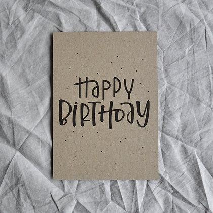 """Kraftpapier-Karte A6 """"Happy Birthday"""""""