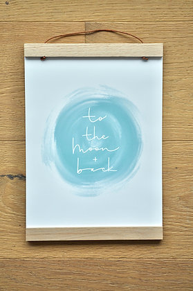 """A4 Print """"to the moon + back"""""""