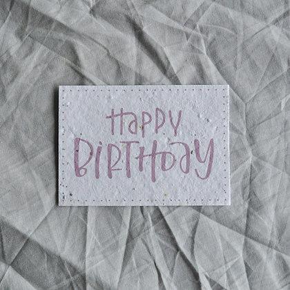 "Saat-Karte A7 ""Happy Birthday"" rosa"