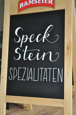 Kundenstopper Speckstein