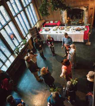 Guests Learn Dance in the Great Hall