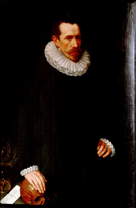 The Philosopher/The Gentleman, 1575, attributed to Adrian Thomas Key, oil on panel.