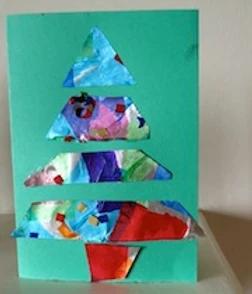 Handmade Christmas Cards:  Foil Tree, Bauble & Star