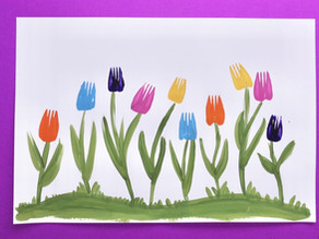 Activity #6: Fork-Painted Tulips