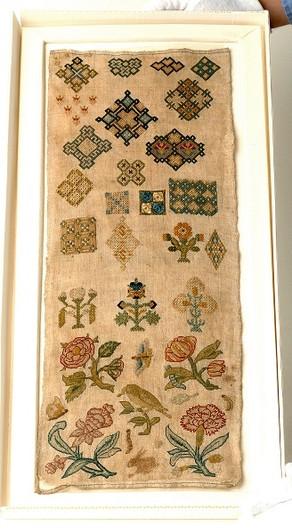 English Spot Sampler, c. 1625-1650