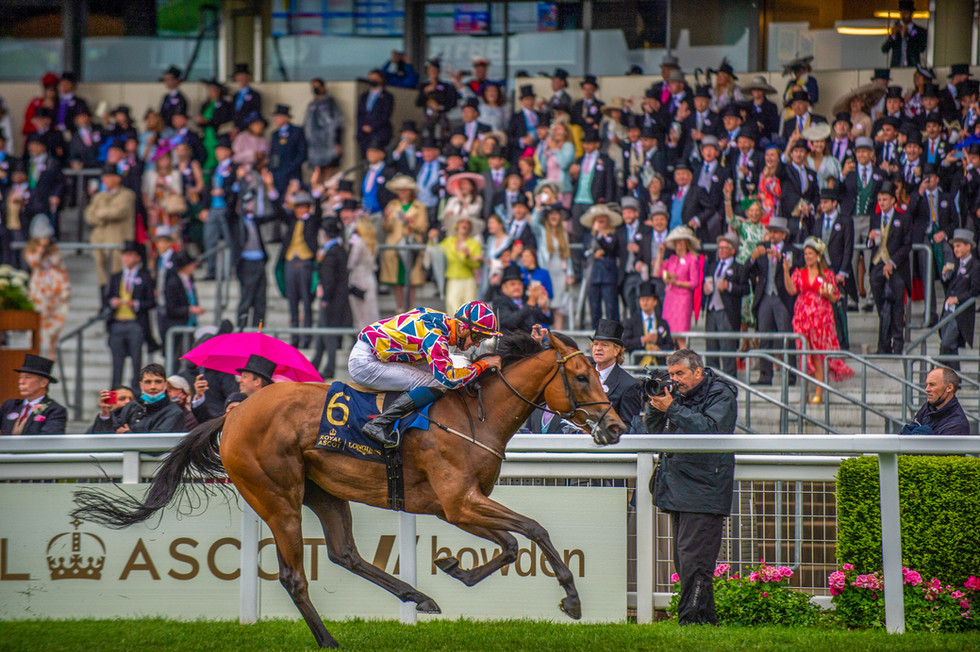 Ben Coen and Create Belief winning the Sandringham Stakes at Royal Ascot 2021