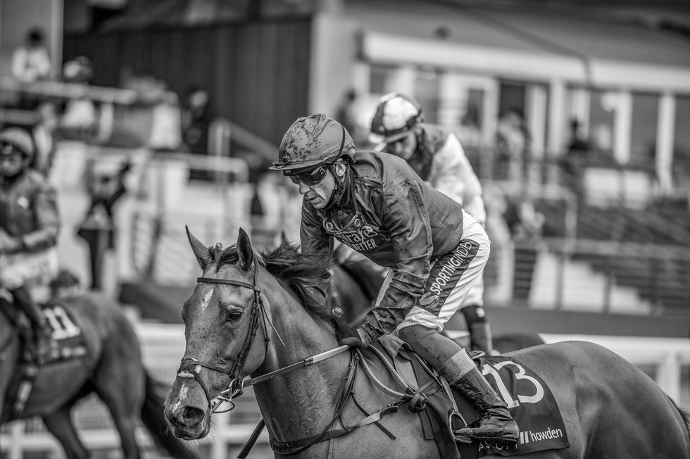 Frankie Dettori and Campanelle having run in the Commonwealth Cup at Royal Ascot 2021