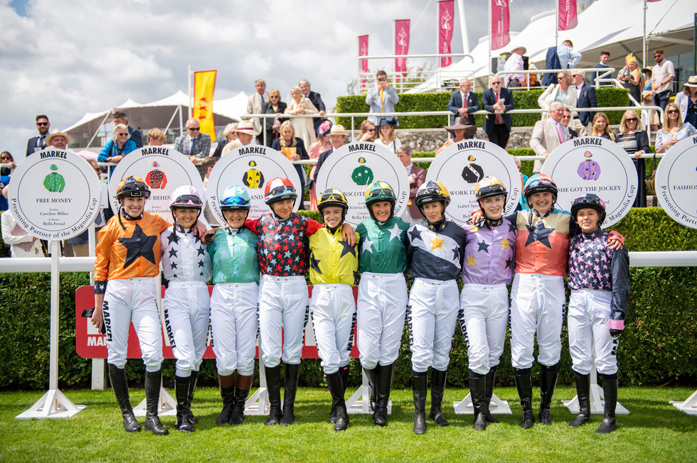 The Magnolia Cup. This renowned charity event sees riders who are the leading women of business, sport, fashion and media, take part in one of the most exciting horseracing events in the world.