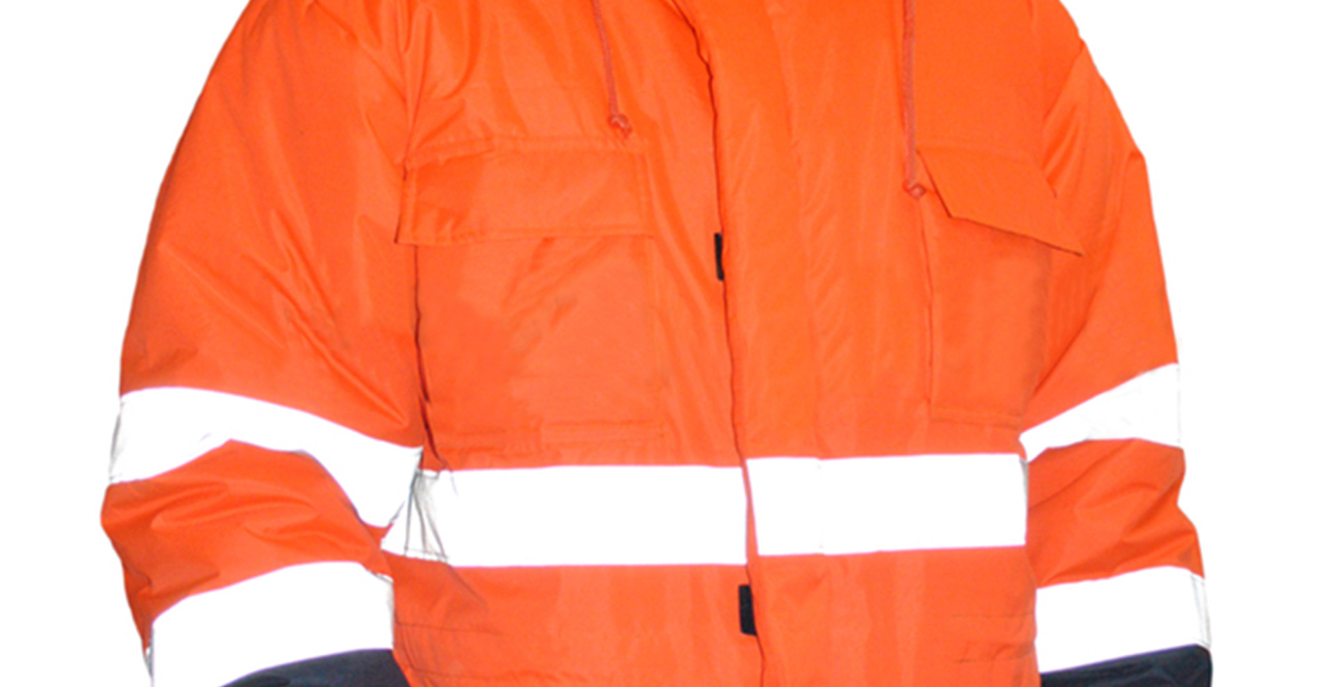 Neon Orange Parka Jacket