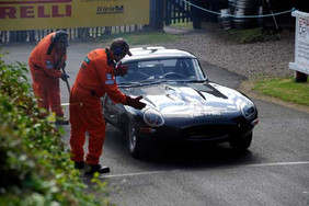 Checking an E-type, start of the Hill.