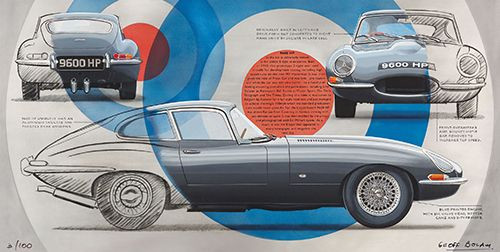 The most famous E-type in the world print