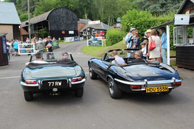 A bit of E-type competition on the lead-up to the Hill!