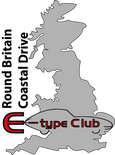 E-type Club Round Britain Coastal Drive