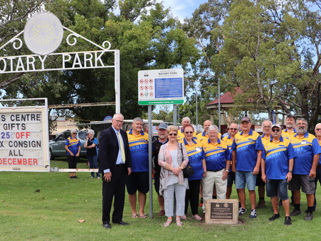 Col Brown Rotary Park officially renamed