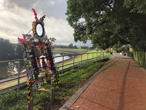 The Levee is Changing Colours With Living Sculptures