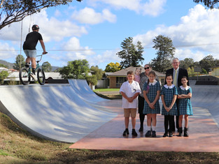 Council and Mindaribba open Millfield Skatepark