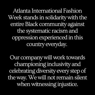 Statement from Atlanta International Fashion Week