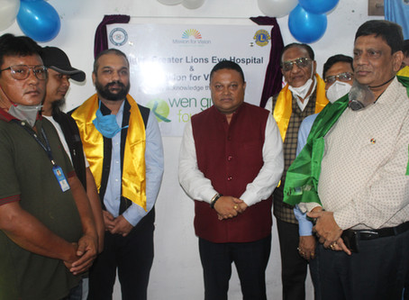 Siliguri Greater Lions Eye Hospital Opens Primary Eye Care Vision Centre at Takdah, Darjeeling