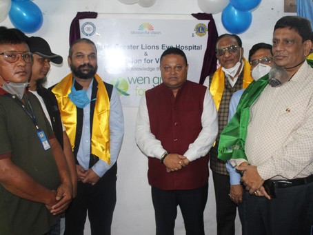 Siliguri Greater Lions Eye Hospital Opens Primary Eye Care Vision Centre at Takdah, Darjeeling