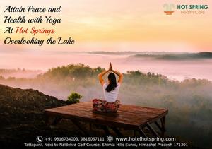 Yoga overlooking the lake at Hot Spring Tattapani