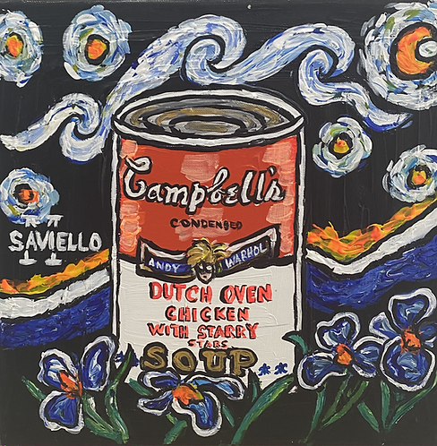 ANDY WARHOL DUTCH OVEN CHICKEN WITH STARRY STAR SOUP