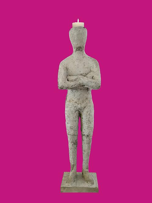 "Skulptur ""Candleman"" ca. 55 cm"