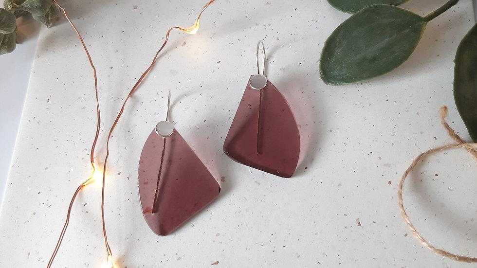 Transparent Blackcurrant Dangle Earrings