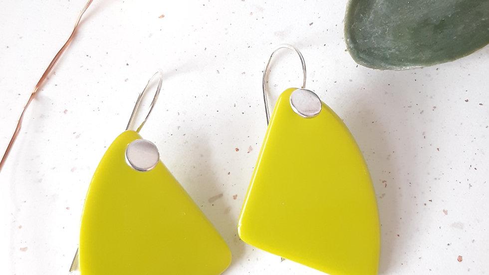 Opaque Lime Dangle Drop Earrings