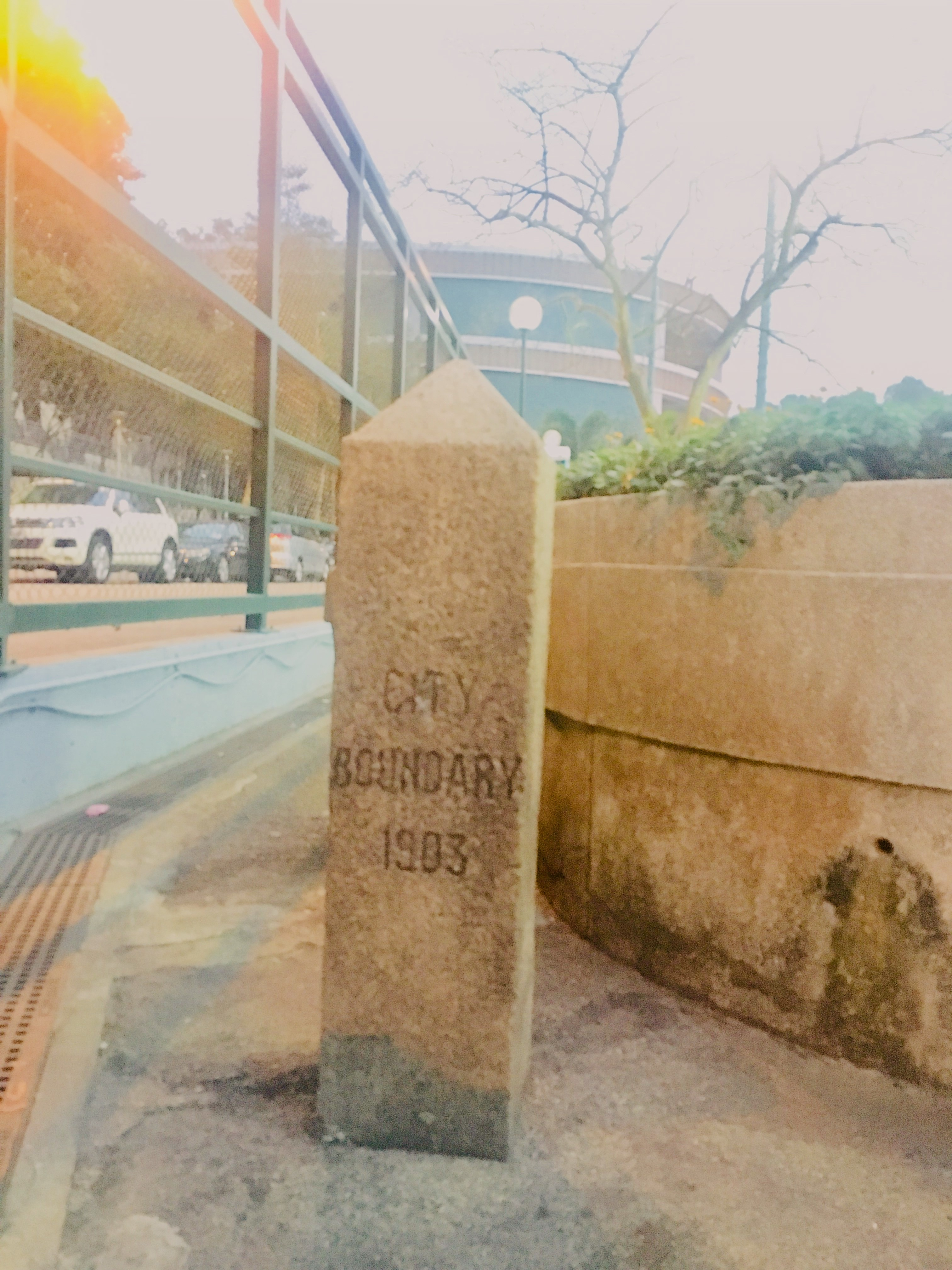 V162 End Point - City Boundary Stone