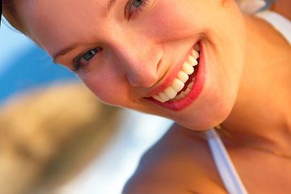 Straight teeth, smiling lady